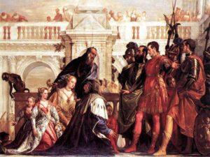 Rodzina Dariusza III przed Aleksandrem Wielkim - fragment obrazu Paolo Veronese