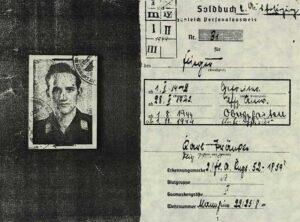 Kopia książeczki wojskowej Karla Tränkle